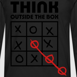think outside box T-Shirts - Men's Premium Long Sleeve T-Shirt