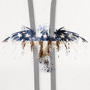 Bald Eagle US Flag Tanks - Contrast Hoodie