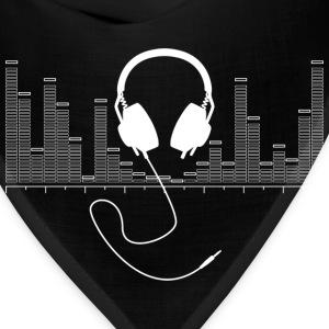 Headphones with Audio Bar Graph in White - Bandana