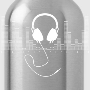 Headphones with Audio Bar Graph in White - Water Bottle