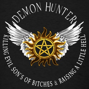 Demon Hunter  protection Symbal Flames 08 Caps - Men's T-Shirt