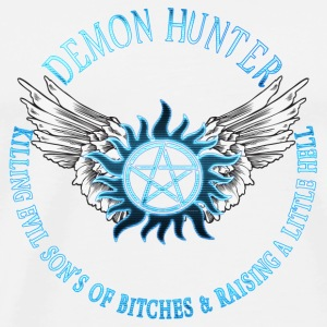 Demon Hunter  protection Symbal Flames 09 Buttons - Men's Premium T-Shirt