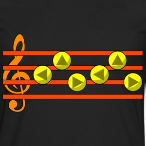 Zelda's Lullaby Ocarina Song Hoodies - Men's Premium Long Sleeve T-Shirt