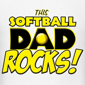 This Softball Dad Rocks Hoodies - Men's T-Shirt