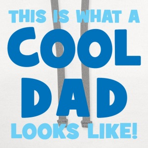 This Is What A Cool Dad Looks Like Kids' Shirts - Contrast Hoodie