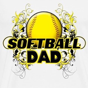 Softball Dad (cross) Hoodies - Men's Premium T-Shirt