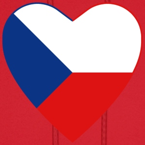 Czech Republic Flag Heart T-Shirt - Men's Hoodie