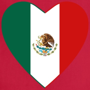 Mexico Flag Heart T-Shirt - Adjustable Apron