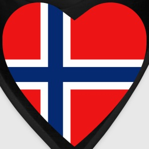 Norway Flag Heart T-Shirt - Bandana