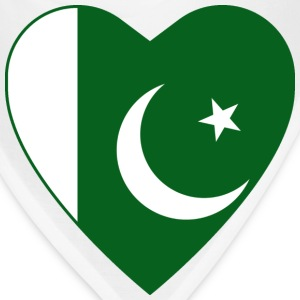Pakistan Flag Heart T-Shirt - Bandana