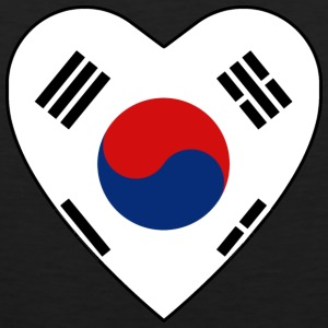 South Korea Flag Heart T-Shirt - Men's Premium Tank