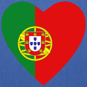 Portugal Flag Heart T-Shirt - Tote Bag