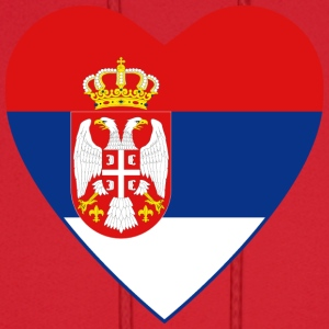 Serbia Flag Heart T-Shirt - Men's Hoodie