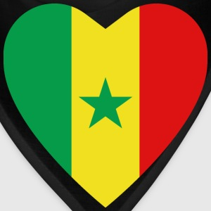 Senegal Flag Heart T-Shirt - Bandana