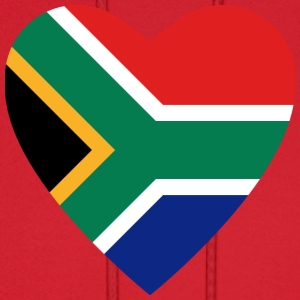 South Africa Flag Heart T-Shirt - Men's Hoodie
