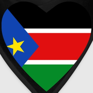 South Sudan Flag Heart T-Shirt - Bandana
