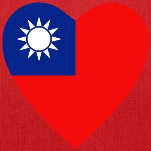 Taiwan Flag Heart T-Shirt - Tote Bag