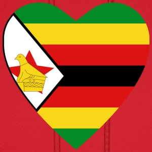 Zimbabwe Flag Heart T-Shirt - Men's Hoodie