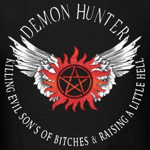 Demon Hunter  protection Symbal Flames 12 Hoodies - Men's T-Shirt