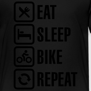 Eat sleep bike repeat  Kids' Shirts - Toddler Premium T-Shirt