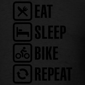 Eat sleep bike repeat  Long Sleeve Shirts - Men's T-Shirt