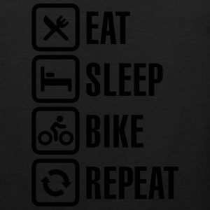 Eat sleep bike repeat  Long Sleeve Shirts - Men's Premium Tank