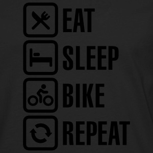 Eat sleep bike repeat  Women's T-Shirts - Men's Premium Long Sleeve T-Shirt