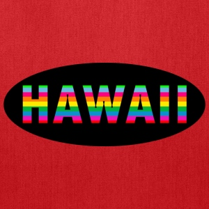Hawaii Oval Rainbow Action - Tote Bag