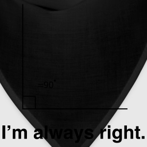 I'm always right math t-shirt Women's T-Shirts - Bandana
