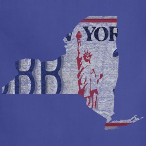 New York State License Plate Women's T-Shirts - Adjustable Apron