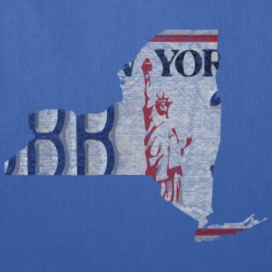 New York State License Plate Women's T-Shirts - Tote Bag