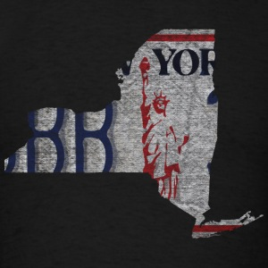 New York State License Plate Hoodies - Men's T-Shirt