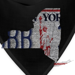 New York State License Plate Hoodies - Bandana