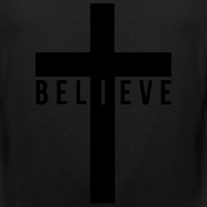 i believe cross Women's T-Shirts - Men's Premium Tank