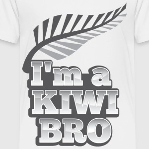 I'm a kiwi BRO in silver NEW ZEALAND Kids' Shirts - Toddler Premium T-Shirt