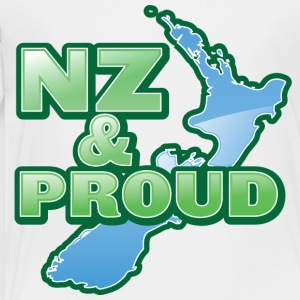 NZ New Zealand and proud with kiwi map Kids' Shirts - Toddler Premium T-Shirt