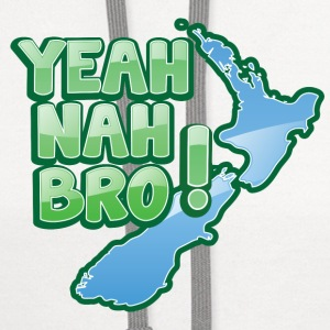 yeah nah bro NEW ZEALAND funny saying iPhone Cases - Contrast Hoodie