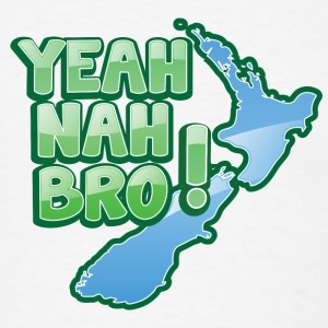 yeah nah bro NEW ZEALAND funny saying iPhone Cases - Men's T-Shirt