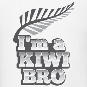 I'm a kiwi BRO in silver NEW ZEALAND iPhone Cases - Men's T-Shirt