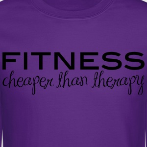 Fitness Cheaper Than Therapy  - Crewneck Sweatshirt