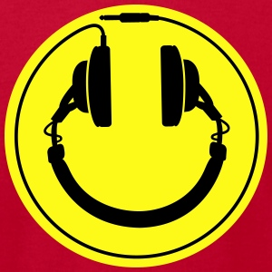 Headphones smiley wire plug Sweatshirts - Men's T-Shirt by American Apparel
