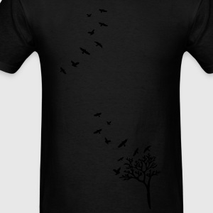 Birds & Trees Women's Longer Length Fitted Tank - Men's T-Shirt