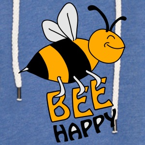 Bee Happy T-Shirts - Unisex Lightweight Terry Hoodie