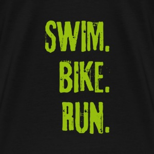 Triathlon Swim Bike Run (green) Bags & backpacks - Men's Premium T-Shirt