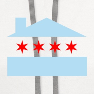 Chicago House Flag Buttons - Contrast Hoodie