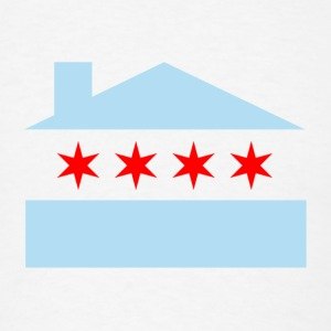 Chicago House Flag Buttons - Men's T-Shirt