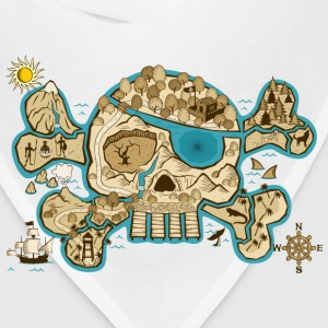 Pirate Skull Map T-Shirts - Bandana