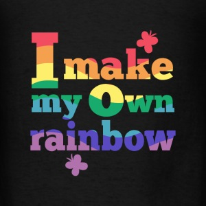 I make my own rainbow Bags & backpacks - Men's T-Shirt
