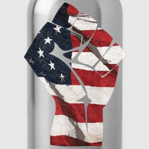 American Flag Fist Long Sleeve Shirts - Water Bottle