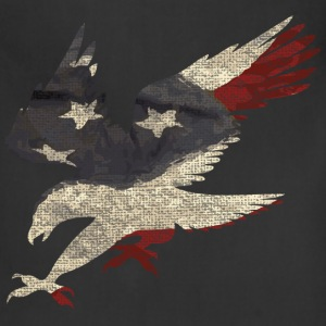 Old Glory American Flag Eagle Women's T-Shirts - Adjustable Apron